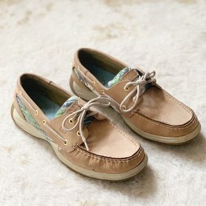 Sperry Boat Shoes Bluefish Tan Preppy Sneakers 9